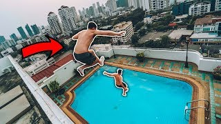 INSANE SKYSCRAPER POOL JUMP IN BANGKOK