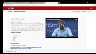 NPTEL course registration thumbnail
