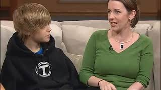Justin Bieber   First time on Television   100 Huntley Street