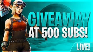 FORTNITE Zone Wars With Subs #VEILZ #GIVEAWAYAT500SUBS