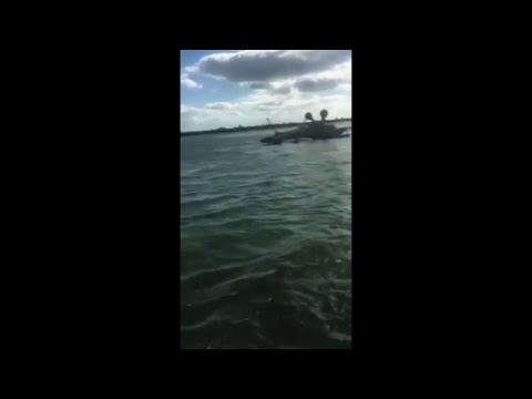 Video Shows Wreckage of Navy Jet in Key West