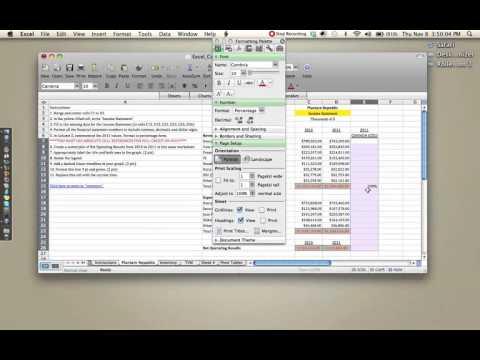 Excel Assessment walktrough - YouTube