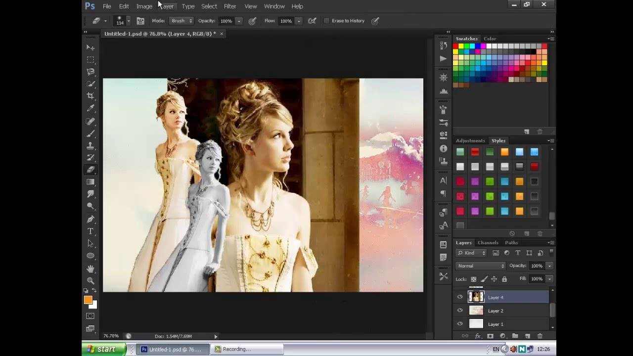 Collage Tutorial using Photoshop CS6 - YouTube
