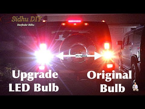 How To Replace, Upgrade HUMMER Reverse Light Bulb To LED Bulb