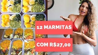 R$2,28 POR ALMOÇO - MARMITA FITNESS DA SEMANA PARA EMAGRECER GASTANDO POUCO (BAIXO CARBOIDRATO)