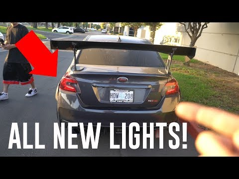INSTALLING FULL CUSTOM LIGHTING FOR THE WRX! *SEQUENTIAL LED TAILLIGHTS*