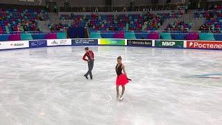 Ирина Хавронина Дарио Чиризано Ритм танец Юниоры Первенство России по фигурному катанию 2021