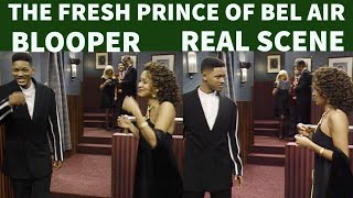 The Fresh Prince Of Bel Air | Bloopers vs Actual scenes.