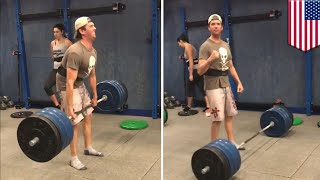 Here's a loop of Donald Trump, Jr. crushing it at deadlifting at the gym. You're welcome - TomoNews