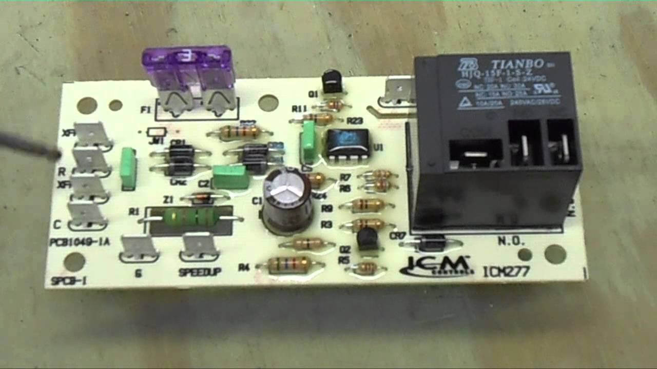 goodman fan relay wiring diagram a time clock and contactor hvac relays- the icm277c blower control board - youtube