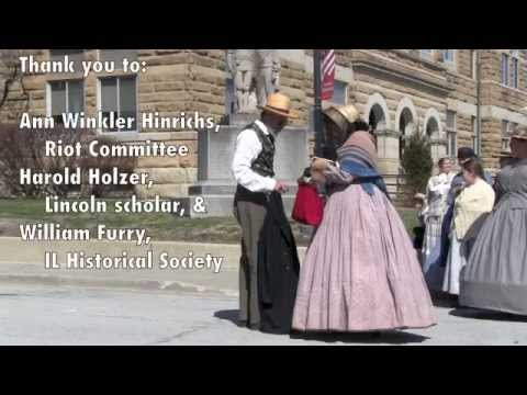 Charleston Riot of 1864 re-enactment; also  Harold Holzer