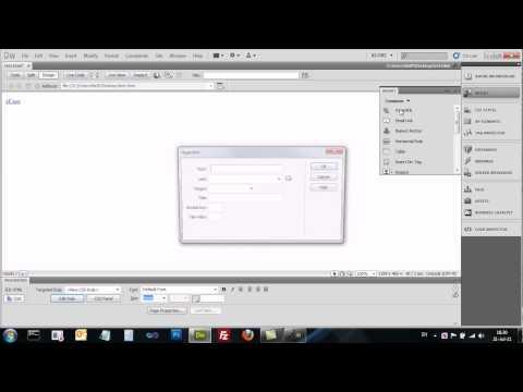Dreamweaver CS5 - Links / URLs - קישורים נתיבים ועוגנים