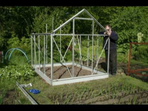 How To Build A Greenhouse Part 1 Youtube