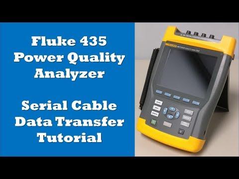 Fluke 435 Optical Serial Cable Data Transfer Tutorial