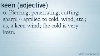 keen definition