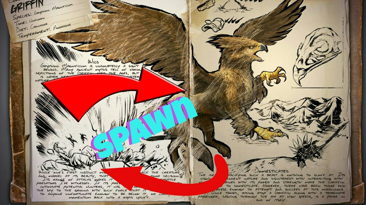 ARK XBOX GRIFFIN TAME SPAWN COMMAND!!!!!