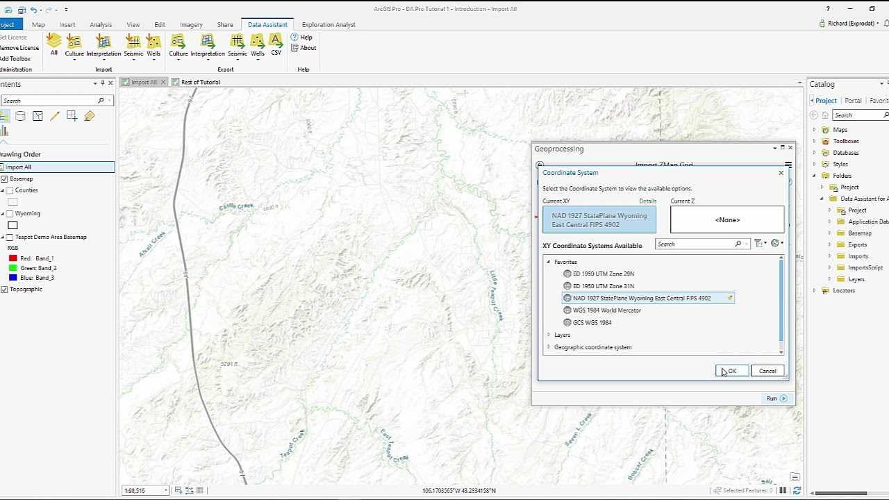 How to import Petrel / Zmap Grid to ArcGIS Pro