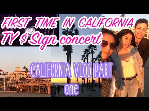 First Time In California+ Ty Dolla $ign Concert  CALIFORNIA VLOG PART 1
