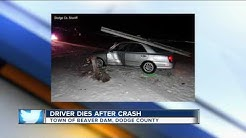 Driver dies after crash in Dodge County