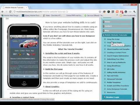 Start Your Own Mobile Website Business
