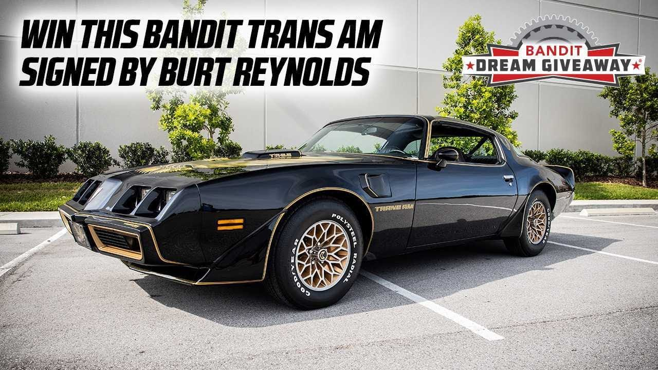 Pedal to the Metal - Only Days Left to Win This Burt Reynolds' Autographed Pontiac Trans Am Bandit