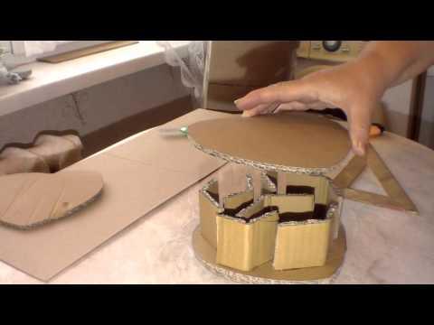 Cмотреть онлайн Изготовление картонной формы для плетения из газет. Часть 1.