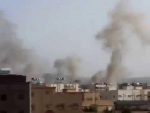 Najran bombed by houthi rebel may 11, 2015