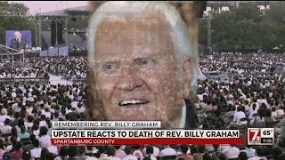 Upstate residents react to death of Rev. Billy Graham