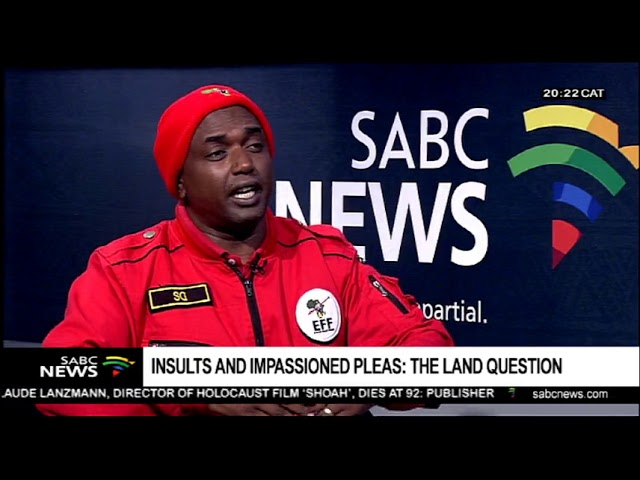 EFF's Godrich Gardee on support by Contralesa on land expropriation.
