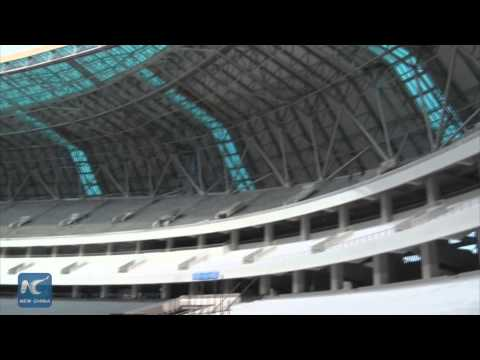 China build: the main stadium of The All-Africa Games 2105