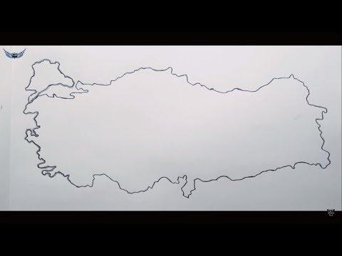 Kolay Turkiye Haritasi Resmi Cizimi Youtube