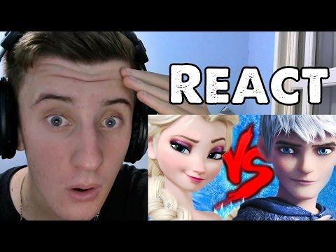REACT Elsa VS. Jack Frost | Duelo de Titãs Part. Isis Vasconcellos e Tauz (7 Minutoz)
