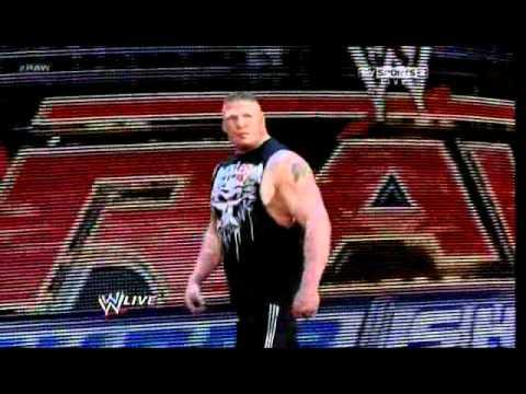 Brock Lesnar Returns to WWE RAW 2012.