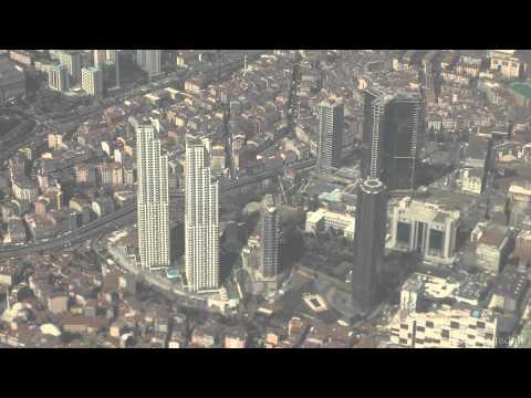Istanbul Atatürk Int. Airport Landing with Aerial View HD, THY inişi İstanbul Manzarası