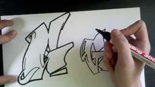 "How to draw Graffiti Letter ""G"" on paper"