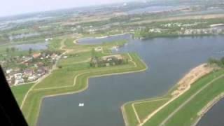 Maaseik helikopter rond vlucht