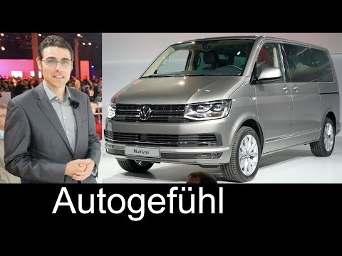 All-new Volkswagen Transporter T6 Multivan Caravelle 2016 WORLD PREMIERE review Neuer VW Bulli Bus
