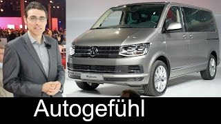 All-new Volkswagen Transporter T6 Multivan Caravelle 2016 World Premiere review Neuer...
