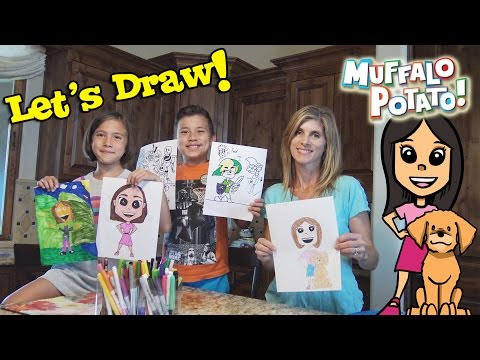 DRAWING JILLIAN Family Drawing Time with Muffalo Potato