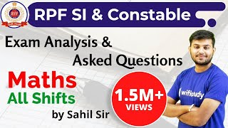 RPF SI & Constable 2018 (All Shifts) Maths | Exam Analysis & Asked Questions