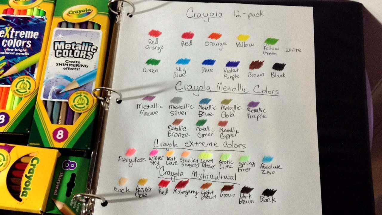 more crayola colored pencil swatches metallic extreme