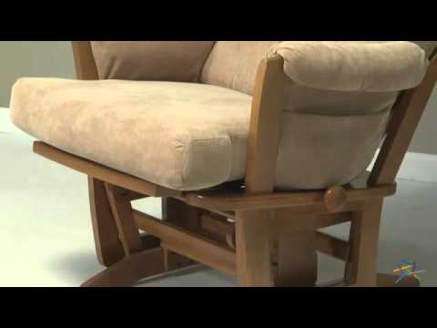 dutailier contemporary maple wood grand glider and nursing ottoman