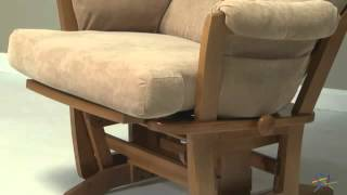 Dutailier Contemporary Maple Wood Grand Glider And Nursing Ottoman Combo - Product Review Video