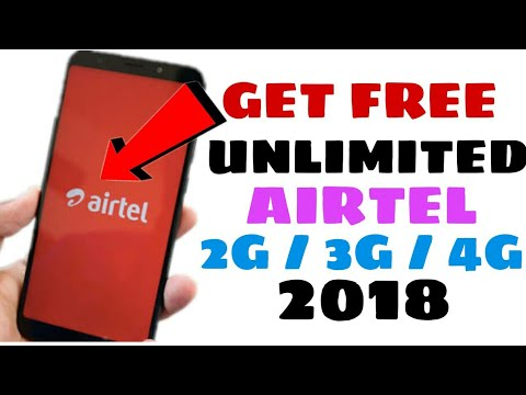 Airtel Unlimited Free 2G/3G/4G Internet Trick 2018    100% Real