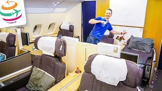 die lufthansa first class a380 nur fr mich   review flightreport bericht   globaltraveler tv