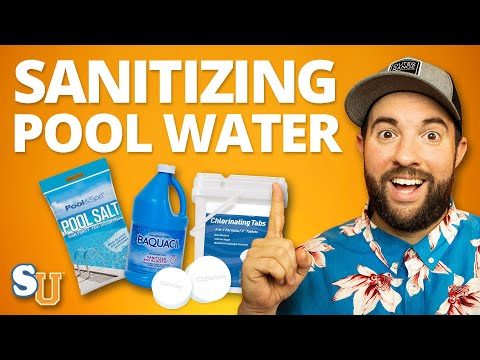 POOL CHEMISTRY 101: How To Sanitize Your Water (Chlorine, Bromine, Salt, Minerals) | Swim University