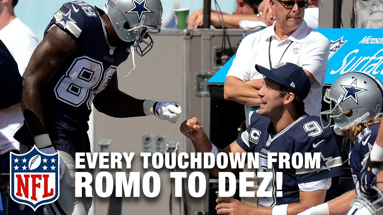 Every Tony Romo To Dez Bryant Touchdown Pass Tony Romo Retires Nfl Highlights
