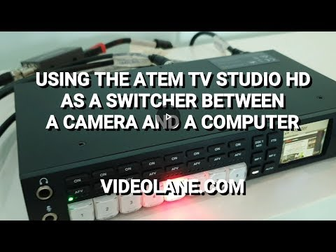 ATEM Television Studio HD Review - Live Video Switcher Between Camera And Computer