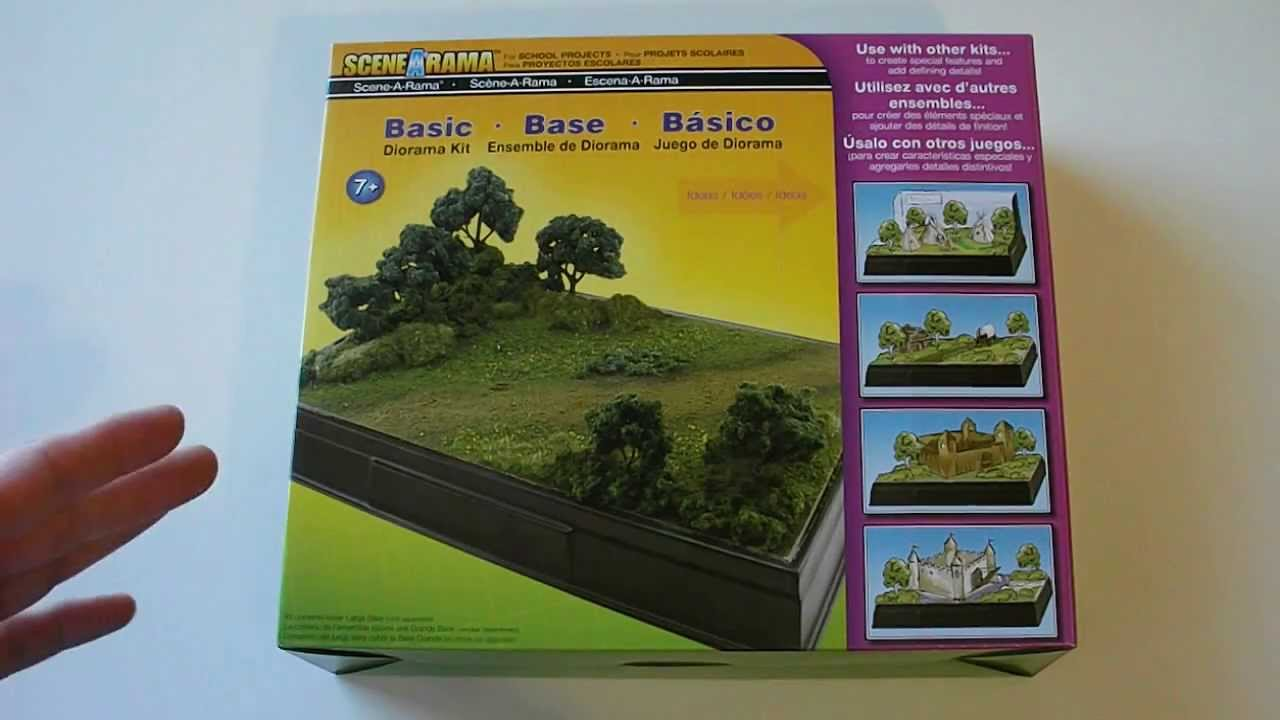 Woodland Scenics Scene-A-Rama Basic Diorama Kit Product Overview