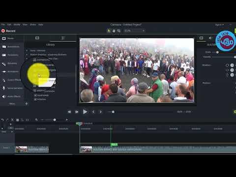 Video editleme düzenleme  programı Camtasia ile intro yapma intro ekleme eğitim videosu